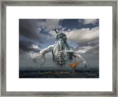 Inadvertent Metamorphosis Or King Of My Castle Framed Print by George Grie