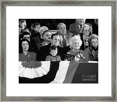 Inauguration Of George Bush Sr Framed Print by H. Armstrong Roberts/ClassicStock