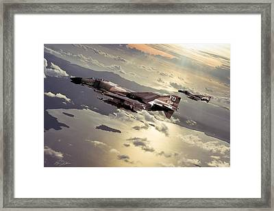 Inbound Wolf Pack Framed Print by Peter Chilelli