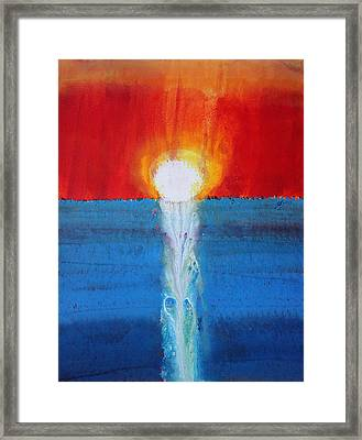 Incandescence Original Painting Framed Print by Sol Luckman