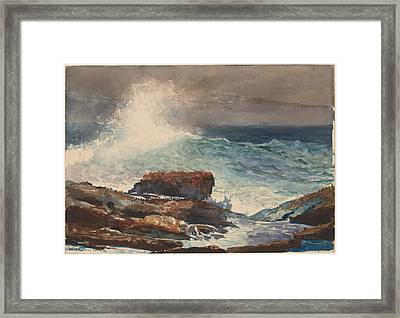 Incoming Tide - Scarboro - Maine Framed Print by Winslow Homer