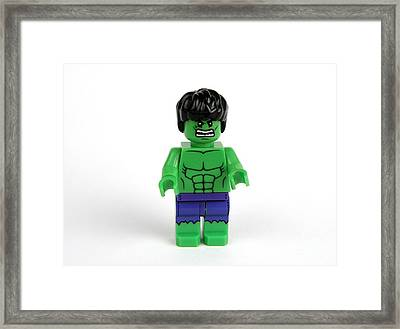Incredible Green Guy Framed Print by Christina Stanley