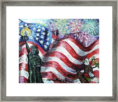Independence Day Framed Print by Shana Rowe Jackson