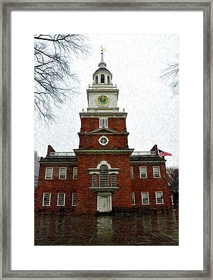 Independence Hall In Philadelphia Framed Print by Bill Cannon