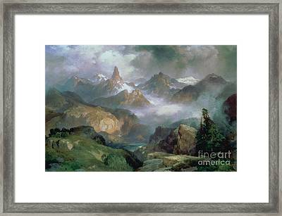 Index Peak Framed Print by Thomas Moran