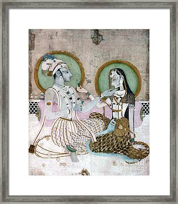 India: Couple Framed Print by Granger