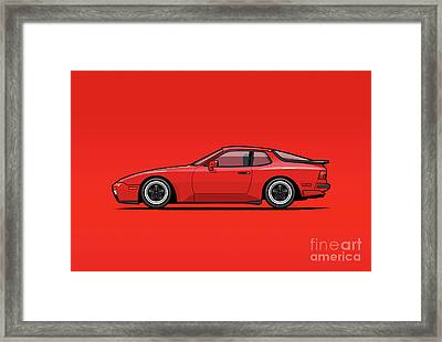 India Red 1986 P 944 951 Turbo Framed Print by Monkey Crisis On Mars