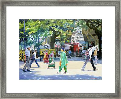 India Street Scene 2 Framed Print by Dominique Amendola