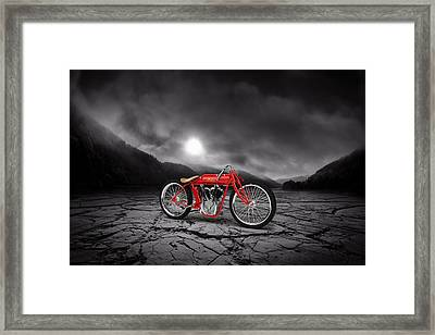 Indian Board Track Racer 1920 Mountains Framed Print by Aged Pixel