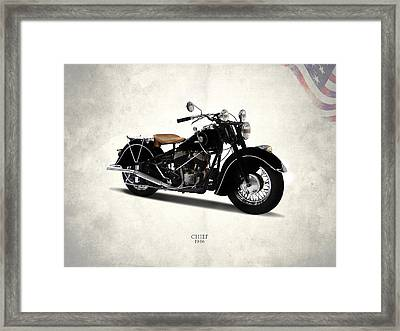 Indian Chief 1946 Framed Print by Mark Rogan