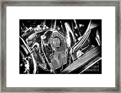 Indian Chief Engine Casing Framed Print by Tim Gainey