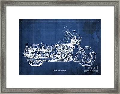 Indian Chief Vintage 2012 Blueprint Framed Print by Pablo Franchi