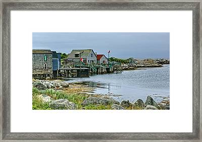 Indian Harbour - Fishing Village - Nova Scotia Framed Print by Nikolyn McDonald