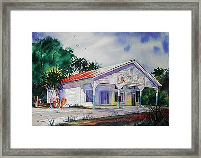 Indian Pass Raw Bar Framed Print by Chuck Creasy