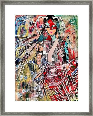 Indian Princess Framed Print by Amy Sorrell