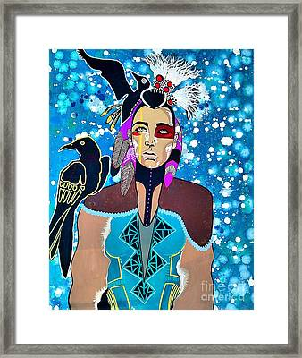 Indian Raven Framed Print by Amy Sorrell