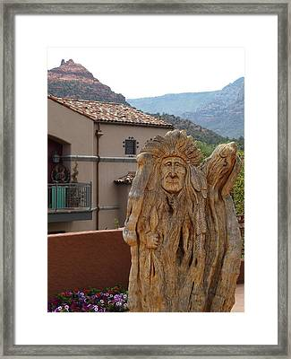 Indian Statue Framed Print by Jodi Turchin