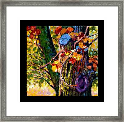 Indian Summer Detail Eight Framed Print by John Lautermilch