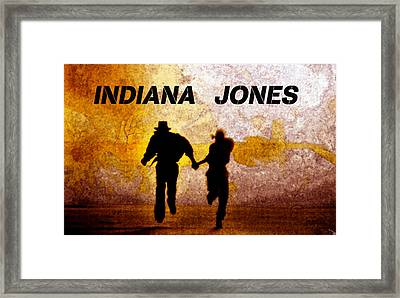 Indiana Jones Poster Work A Framed Print by David Lee Thompson