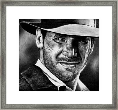 Indiana Jones Framed Print by Rick Fortson