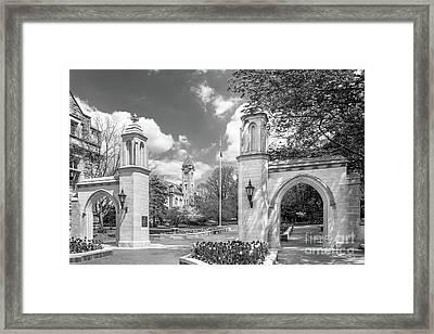 Indiana University Sample Gates Framed Print by University Icons