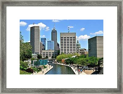 Indianapolis Canal Framed Print by Frozen in Time Fine Art Photography