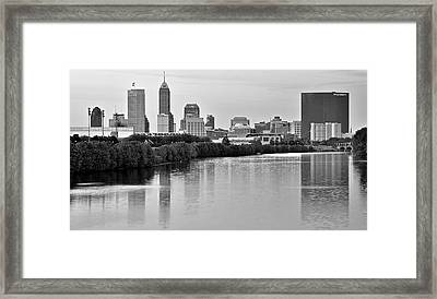 Indianapolis Charcoal Panoramic Framed Print by Frozen in Time Fine Art Photography