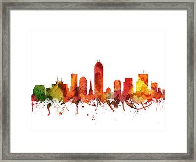 Indianapolis Cityscape 04 Framed Print by Aged Pixel