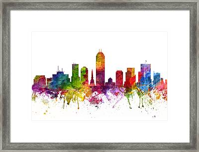 Indianapolis Cityscape 06 Framed Print by Aged Pixel