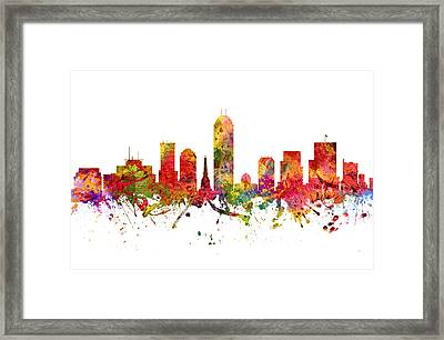Indianapolis Cityscape 08 Framed Print by Aged Pixel