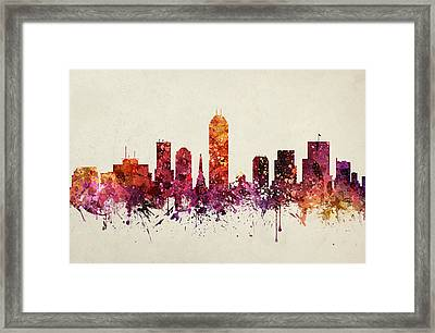 Indianapolis Cityscape 09 Framed Print by Aged Pixel