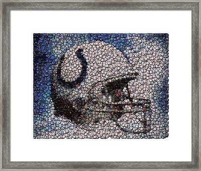 Indianapolis Colts Bottle Cap Mosaic Framed Print by Paul Van Scott