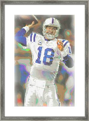 Indianapolis Colts Peyton Manning 2 Framed Print by Joe Hamilton