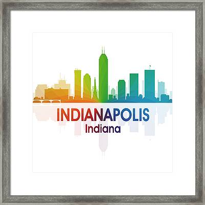 Indianapolis In 1 Squared Framed Print by Angelina Vick