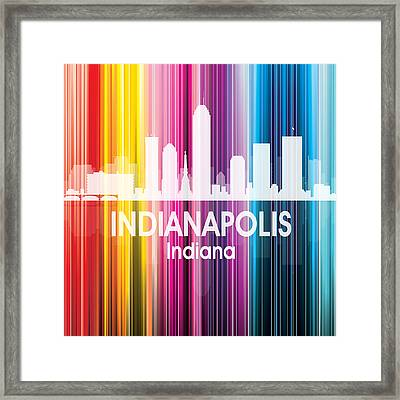 Indianapolis In 2 Squared Framed Print by Angelina Vick