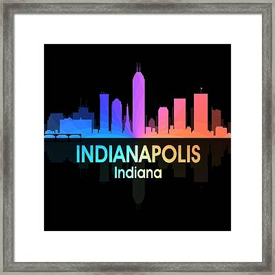 Indianapolis In 5 Squared Framed Print by Angelina Vick