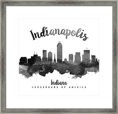 Indianapolis Indiana Skyline 18 Framed Print by Aged Pixel