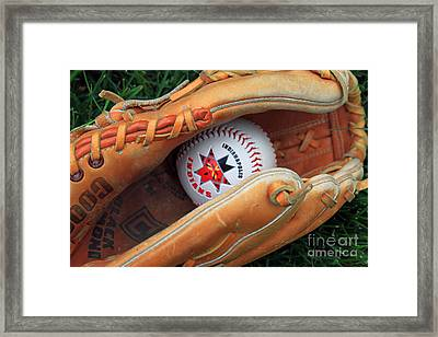 Indianapolis Indians Baseball Framed Print by Steve  Gass