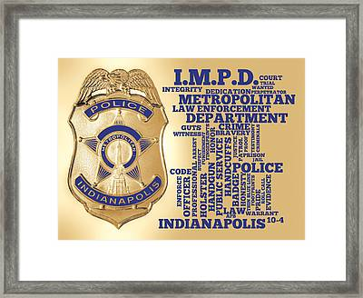 Indianapolis Metropolitan Police Department Gold Framed Print by Dave Lee