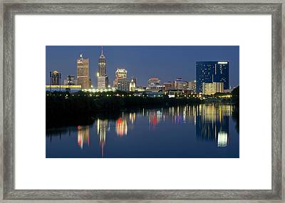 Indianapolis Night Framed Print by Frozen in Time Fine Art Photography