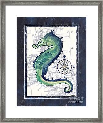 Indigo Maritime 2 Framed Print by Debbie DeWitt