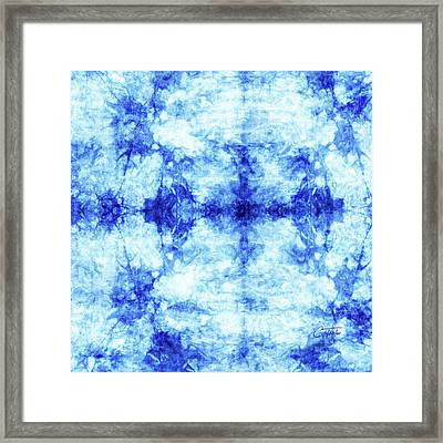 Indigo And Teal 2 Framed Print by Colleen Taylor