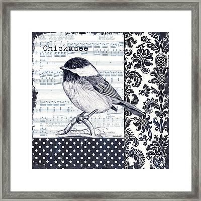 Indigo Vintage Songbird 2 Framed Print by Debbie DeWitt