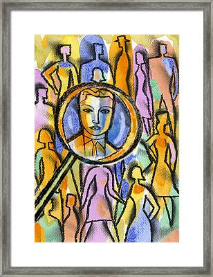 Individuality Framed Print by Leon Zernitsky