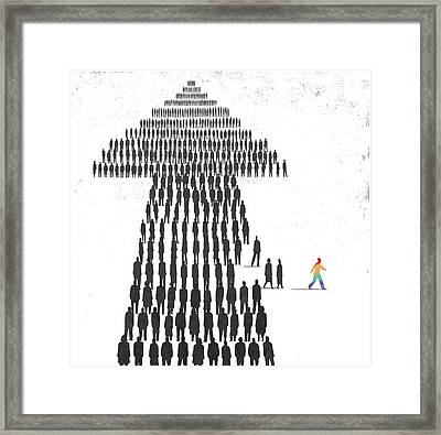Individuality Framed Print by Steve Dininno