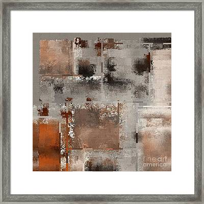 Industrial Abstract - 01t02 Framed Print by Variance Collections