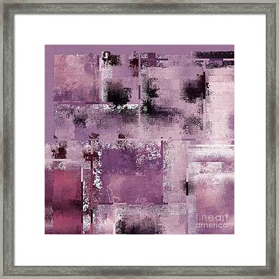 Industrial Abstract - 08t03 Framed Print by Variance Collections
