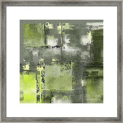 Industrial Abstract - 11t Framed Print by Variance Collections