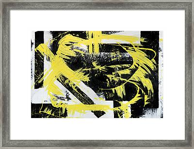 Industrial Abstract Painting I Framed Print by Christina Rollo