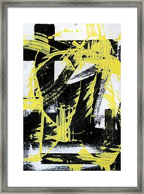 Industrial Abstract Painting II Framed Print by Christina Rollo